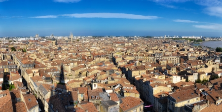 Bordeaux city panorama from St Michel tower Imagens