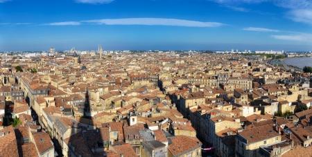 Bordeaux Stadtpanorama von St Michel Turm Standard-Bild - 15518620