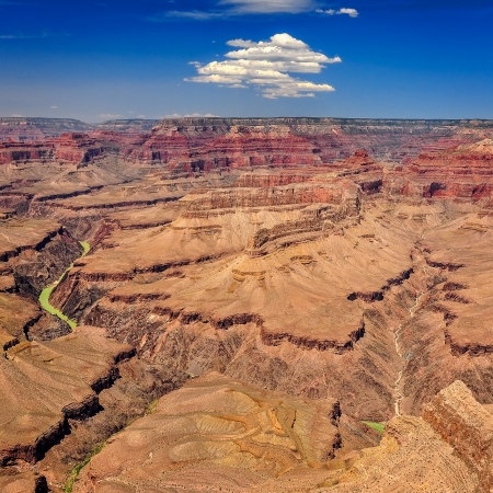 grand canyon: Grand canyon landscape view during sunny day with the blue sky and white clouds Stock Photo