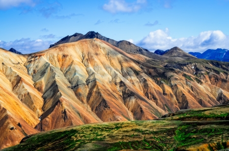 Landmannalaugar colorful mountains landscape view in Iceland