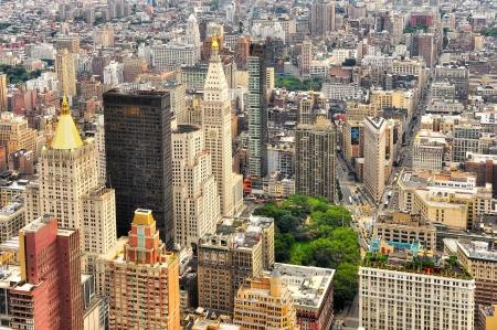 New York Manhattan streets bird view, USA Zdjęcie Seryjne - 16663055