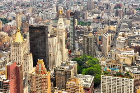 rascacielos: Nueva York calles de Manhattan ave vista, EE.UU. Foto de archivo