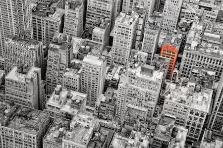civilized: New York streets bird view