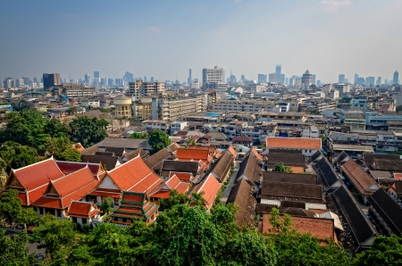 Aerial view of Bangkok from Golden mount, Thailand Stock Photo - 18532737