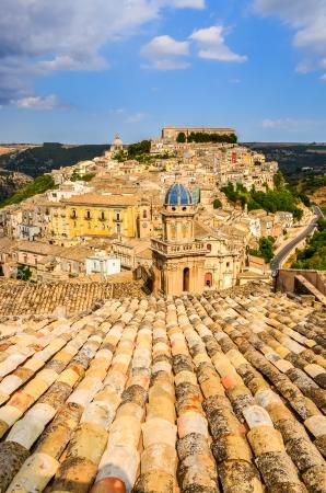italian village: Vertical view of beautiful village Ragusa Ibla in Sicily, Italy