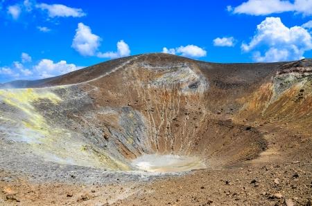 vulcano: Volcano crater on Vulcano island, Lipari, Sicily, Italy