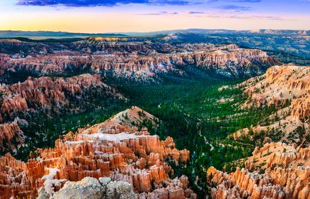 Beautiful colorful sunset at Bryce canyon National park, Utah, USA