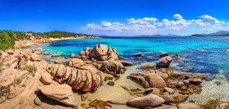Beautiful ocean coastline panorama with beaches in Costa Smeralda, Sardinia, Italy 免版税图像 - 30561694