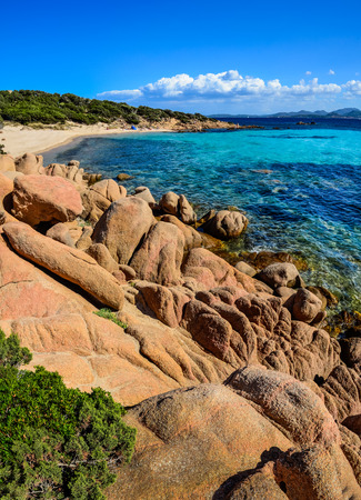 Ocean coastline scenic view in Costa Smeralda, Sardinia, Italy