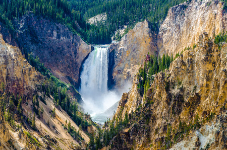 wyoming: Landscape view at Grand canyon of Yellowstone, Wyoming, USA