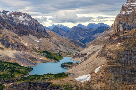 Wild landscape mountain range and lake view, Banff national park, Alberta, Canada