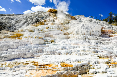 np: Detail view of beutiful geothermal land in Yellowstone NP, USA