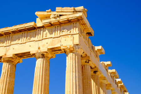 architectures: Architecture detail of Pantheon temple in Acropolis, Athens, Greece Stock Photo