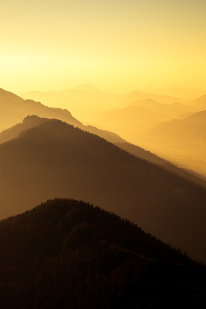 mala fatra: Scenic view of mountains and hills silhouette at sunset, Mala Fatra, Slovakia