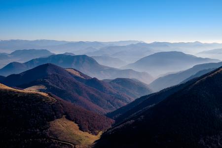 mala fatra: Landscape view of beautiful autumn mountains, Mala Fatra, Slovakia
