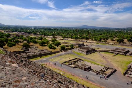 mesoamerica: Scenic view of Avenue of dead in Teotihuacan, Mayan pyramids near Mexico city, Mexico