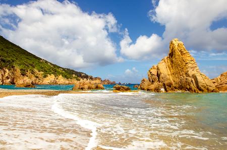 coastlines: Ocean coastline scenic panoramic view in Costa Paradiso, Sardinia, Italy