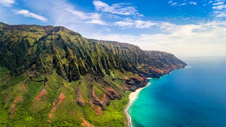 na: Aerial landscape view of spectacular Na Pali coast, Kauai, Hawaii, USA