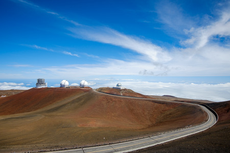 astronomical: Astronomical observatories on Mauna Kea, Hawaii, USA Stock Photo