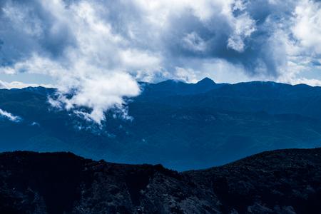 stratovolcano: Volcanic rough landscape in Tongariro national park, North Island, New Zealand Stock Photo