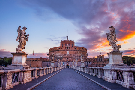 Scenic view of Castle of St. Angelo in Rome at sunrise, Italy Reklamní fotografie