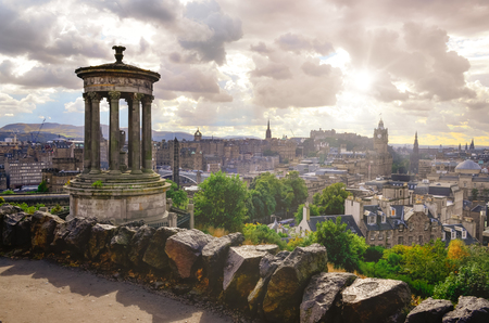Scenic view of Edinburgh skyline, Scotland, United Kingdom