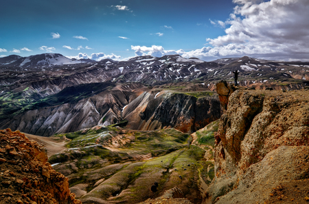 Landscape view of Landmannalaugar colorful volcanic mountains, Iceland, Europe