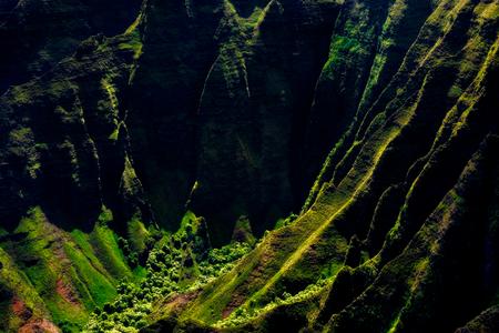 Landscape view of Na Pali coastline cliffs in dramatic style, Kauai, Hawaii, USA Zdjęcie Seryjne