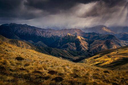 Dramatic mountains landscape near Queenstown, South Island, New Zealand 免版税图像