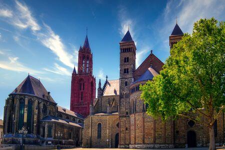 St. John's Church (Sint-Janskerk) and Basilica of Saint Servatius (Sint Servaasbasiliek), Maastricht, Netherlands, Europe