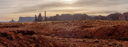 Panoramic landscape view of Monument valley, Utah, USA 免版税图像