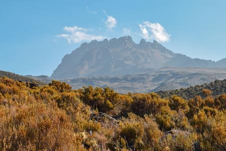 Mawenzi Peak, one of the three volcanic cones of Mount Kilimanjaro, Tanzania