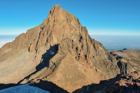 Batian Peak, Mount Kenya National Park, Kenya 写真素材
