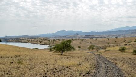 The arid landscapes of Lake Magadi, Kenya