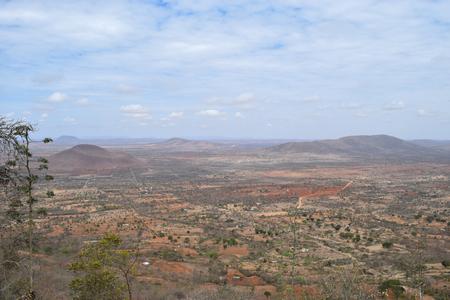 The arid landscapes of Kilome Plains, Makueni County, Kenya