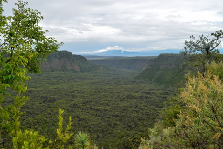 The volcanic crater on Mount Suswa, Suswa Conservancy, Rift Valley, Kenya