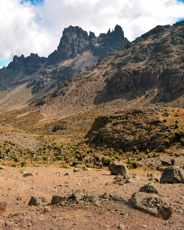 The volcanic landscapes of Mount Kenya National Park, Kenya Reklamní fotografie