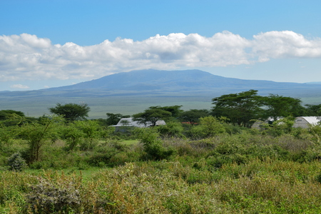 Mount Longonot seen from Suswa Conservancy, Kenya