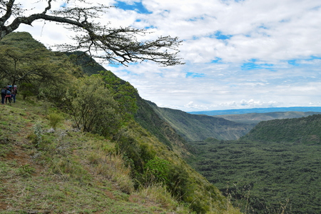 The volcanic crater on Mount Suswa, Rift Valley,Kenya