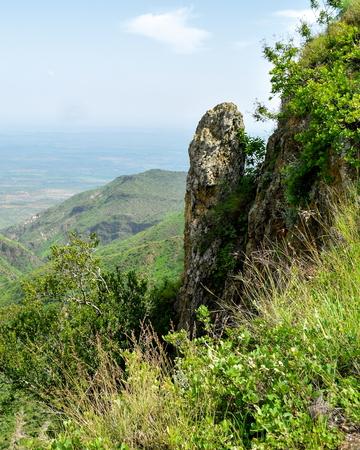 Rock formations in the Savannah Grassland of Oloroka Mountain Range, Kenya