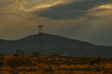 Golden hour at Kajiado, Kenya Stock Photo
