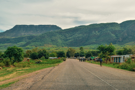 Mount Chombe in Chitimba, Malawi Stock Photo