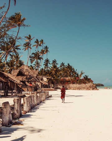 The white sands of Uroa Beach, Zanzibar