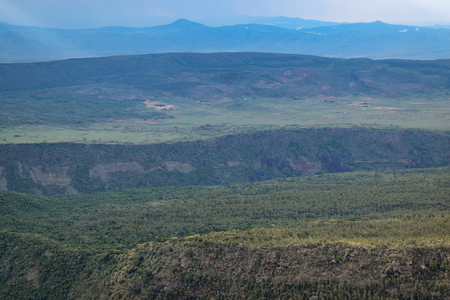 The volcanic crater on Mount Suswa, Rift Valley, Kenya