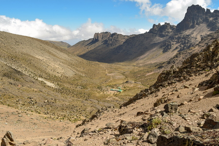 The volcanic landscapes of Mount Kenya