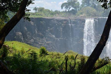 Victoria Falls in Zambezi River, Zambia Foto de archivo