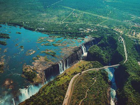 An aerial view of victoria Falls, Zambia Foto de archivo