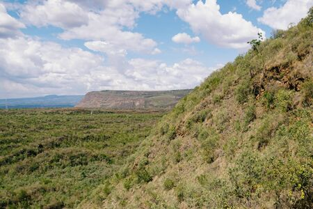 Scenic crater against a mountain background, Menengai Carter, Kenya