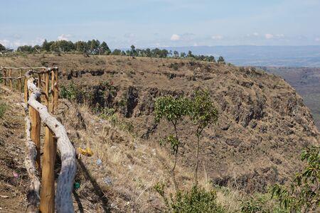 Scenic volcanic crater against sky in rural Kenya, Menengai Carter, Nakuru, Kenya
