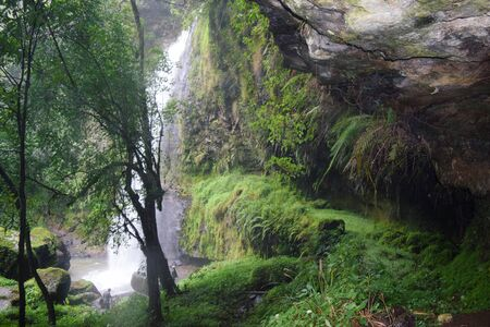 A scenic waterfall in the Aberdare Ranges, Kenya Stock Photo